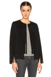 Theperfext Ryder Classic Thin Fringe Jacket In Black