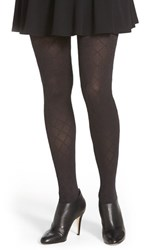 Women's Hue Diamond Textured Control Top Tights Black