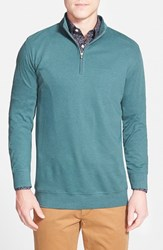Men's Peter Millar Interlock Quarter Zip Sweatshirt Sherwood Green