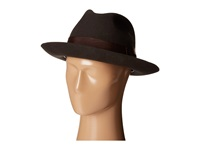 Stacy Adams Wool Felt Fedora W Grosgrain Band Chocolate Fedora Hats Brown
