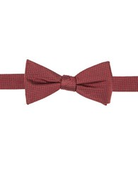 Vince Camuto Geometric Silk Bow Tie Red
