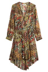 Zadig And Voltaire Printed Silk Dress Multicolor