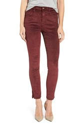 Joe's Jeans Women's 'The Wasteland' High Rise Ankle Skinny Corduroy Pants Garnet