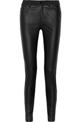 Mcq By Alexander Mcqueen Faux Leather High Rise Skinny Jeans Black