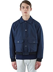 Marius Petrus Relaxed Fit Textured Jacket Navy