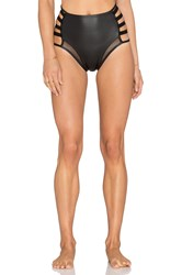 Les Coquines Marlee Strappy Pin Up Bikini Bottom Black