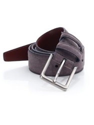 Saks Fifth Avenue Solid Suede Belt Grey