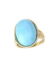 Effy Turquesa 14 Kt. Yellow Gold And Turquoise Oval Ring