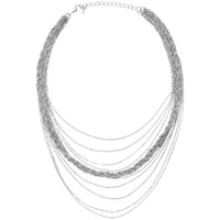 Adele Marie Fine Chain Necklace Silver