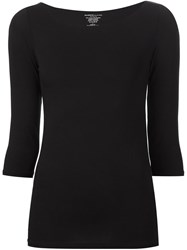Majestic Filatures Round Neck Long Sleeve T Shirt Black