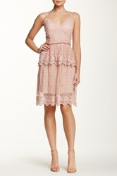Marineblu Spaghetti Strap Lace Dress Pink