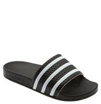 Men's Adidas 'Adilette' Slide Sandal Black White Black