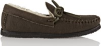 Etoile Isabel Marant Enza Shearling Lined Nubuck Moccasins Brown