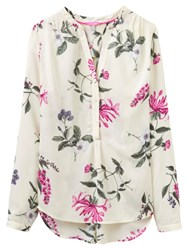 Joules Rosamund Printed Blouse Cream Hedgerow
