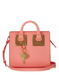 Sophie Hulme Albion Box Leather Cross Body Bag Pink