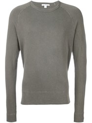 James Perse Basic Sweatshirt Green