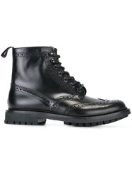 Church's Brogue Lace Up Boots Black