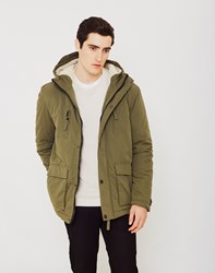 The Idle Man Sherpa Lined Parka Green