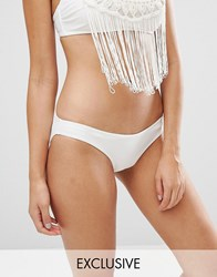 Wolf And Whistle White Bikini Bottom White