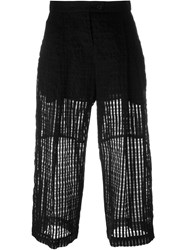 Lost And Found Cropped Trousers Black