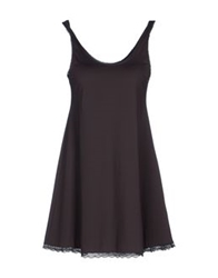 By Ti Mo Short Dresses Dark Brown