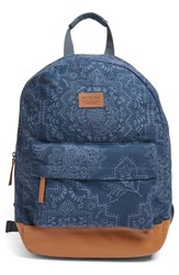 Rip Curl 'Dakota Rose' Print Backpack With Faux Leather Trim Blue Navy