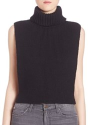 Joe's Jeans Marlow Wool Cropped Turtleneck Sweater Black