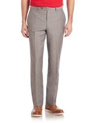 Saks Fifth Avenue Wool And Linen Pants Grey