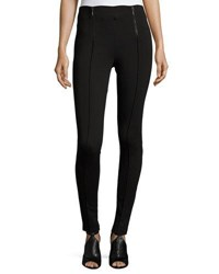 Romeo And Juliet Couture Front Zip Ponte Leggings Black
