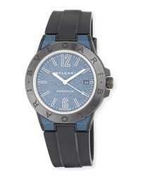 Bulgari 41Mm Ceramic Diagono Magnesium Watch Blue Black Bvlgari