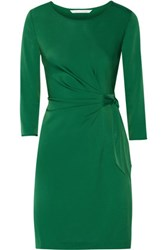 Diane Von Furstenberg Zoe Stretch Jersey Dress Dark Green