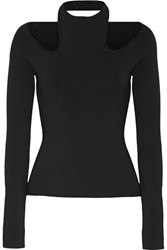 Dion Lee Cutout Stretch Knit Top Black