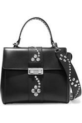 Lanvin Jiji Small Studded Leather Shoulder Bag Black