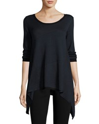 Max Studio Asymmetric Hem Colorblock Sweater Black Ec