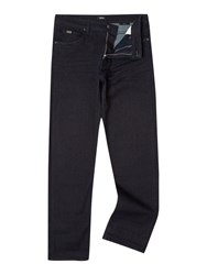 Hugo Boss Alabama Loose Fit Dark Rinse Stretch Jeans Denim Rinse
