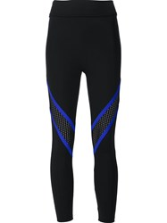 Prabal Gurung Sport 'Colourblock Mesh Performance' Leggings Black
