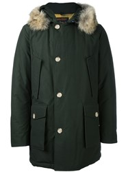 Woolrich Trim Detail Hooded Parka Green