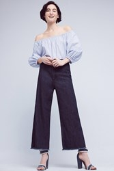 Anthropologie Citizens Of Humanity Ultra High Rise Cropped Palazzo Jeans Denim Dark