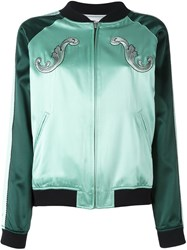 Opening Ceremony Zipped Bomber Jacket Green