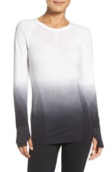 Climawear Women's Dip Dye Long Sleeve Top Black Dip Dye White