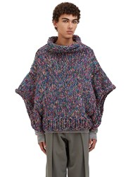 Von Sono Oversized Hand Knitted Sweater Purple