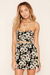 Forever 21 Floral Print Tube Top
