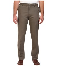 Dockers Premium Big Tall Signature Stretch Flat Front Dark Pebble Men's Casual Pants Brown