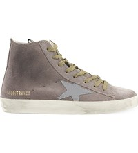 Golden Goose Francy High Top Suede Trainers Lilac