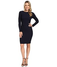 Kut From The Kloth Long Sleeve Pleated Waist Dress Midnight Women's Dress Navy