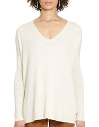 Polo Ralph Lauren Relaxed V Neck Sweater Natural