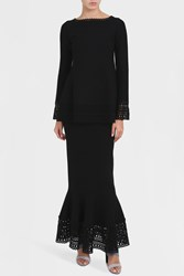 Alaia Women S Vienne D'hiver Long Skirt Boutique1 Black