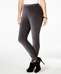 Style And Co. Plus Size Corduroy Stretch Leggings Only At Macy's Graphite Gray