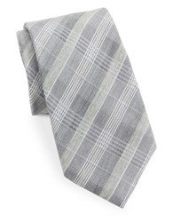 Vince Camuto Plaid Silk Blend Tie Black