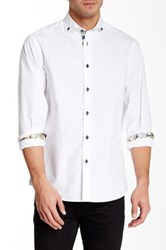 Brio Front Button Contemporary Fit Shirt White